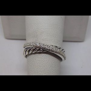 David Yurman Crossover Ring in Diamonds - GORGEOUS